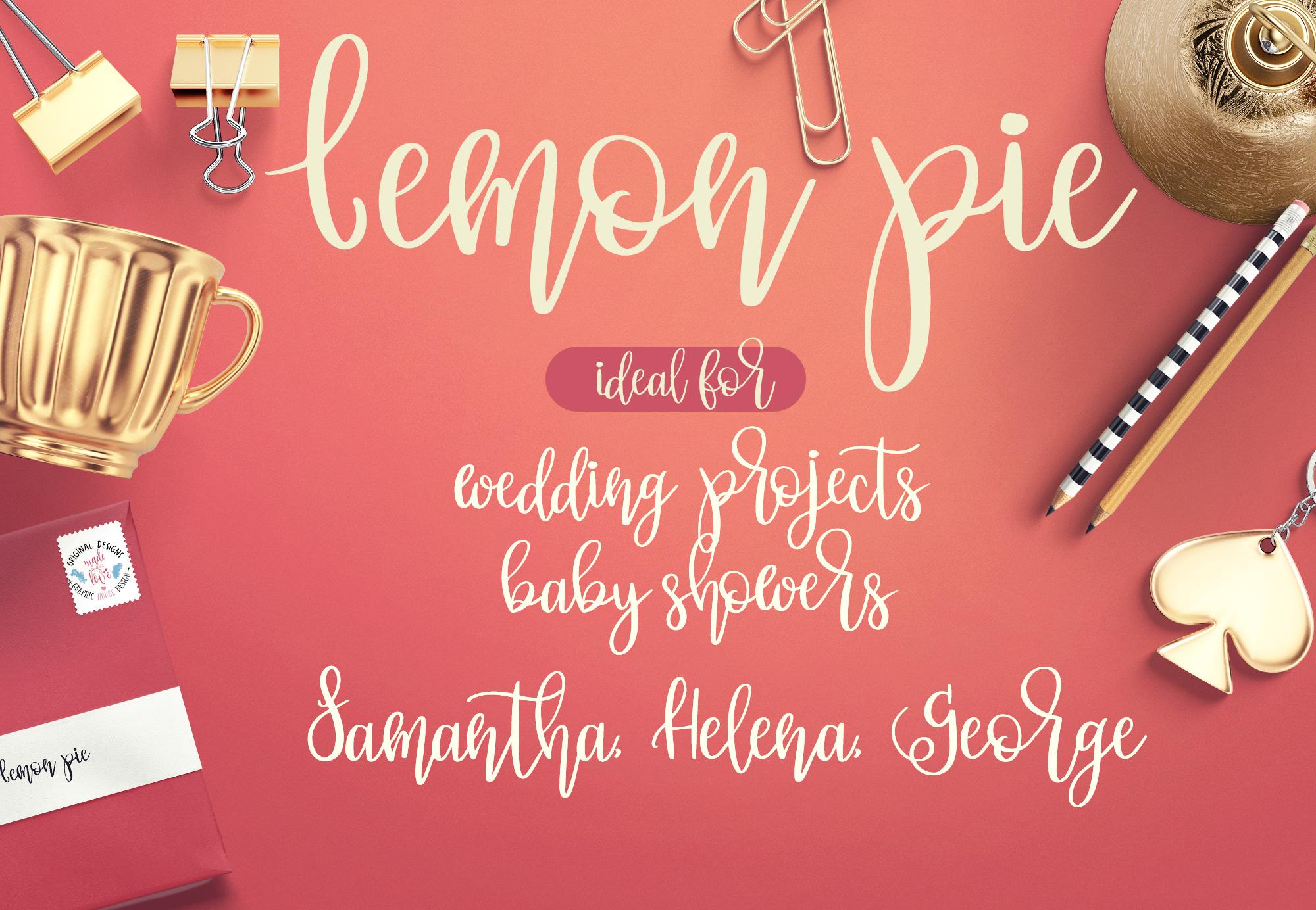 Lemon Pie Modern Hand Lettered Script Font example image 4