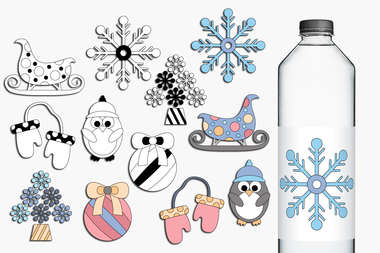 Winter clip art illustrations example image 1