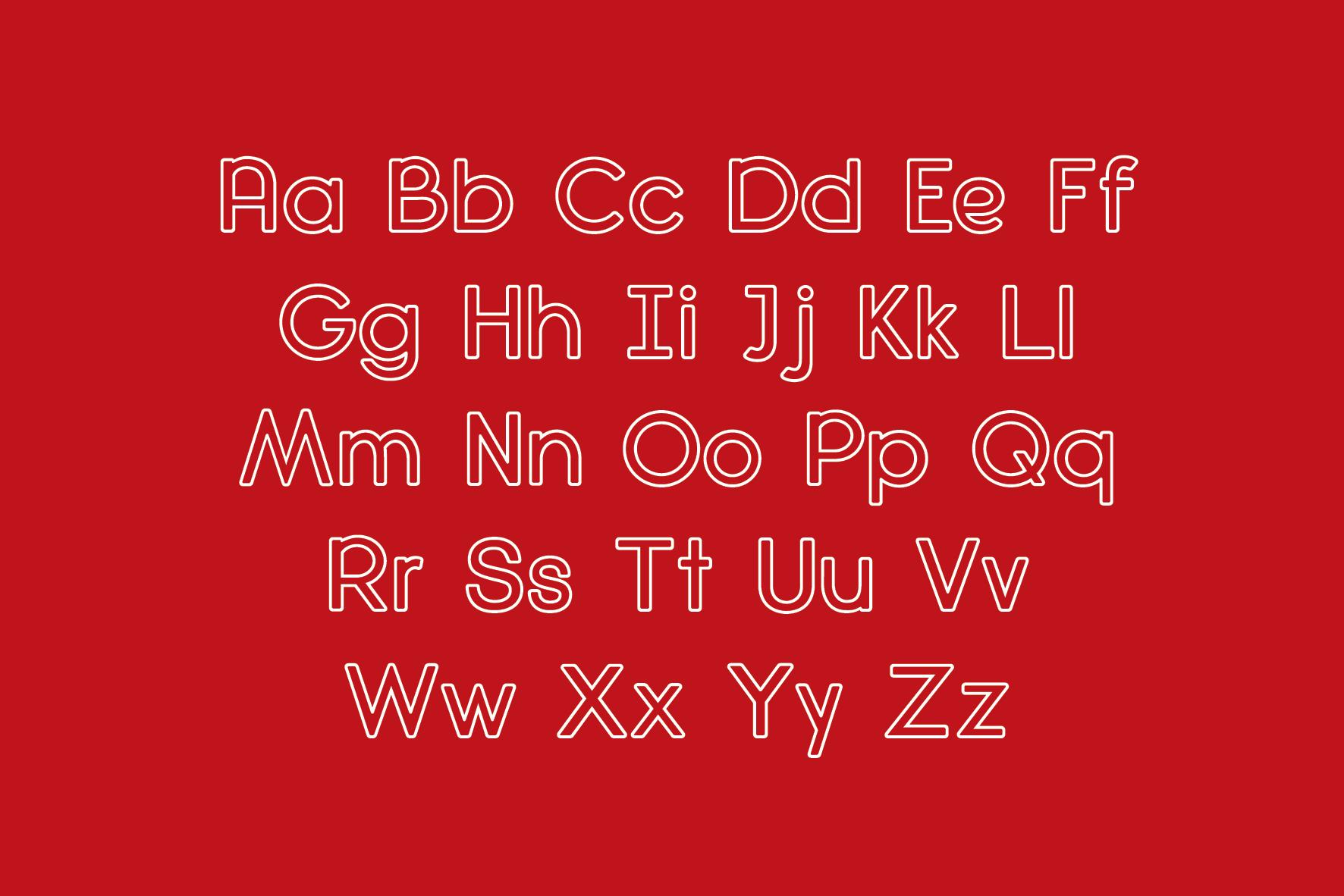 Diamanda Oulines Duo Font example image 6
