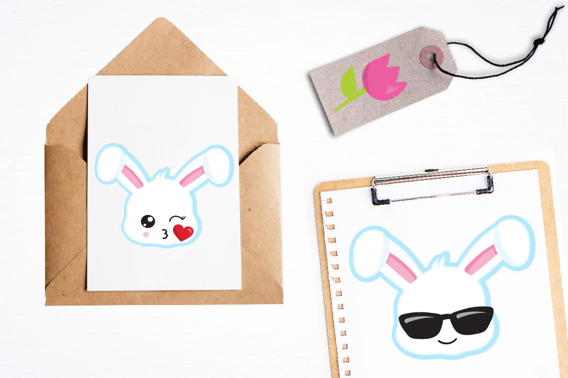 Easter Kawaii Bunnies graphics and illustrations example image 4
