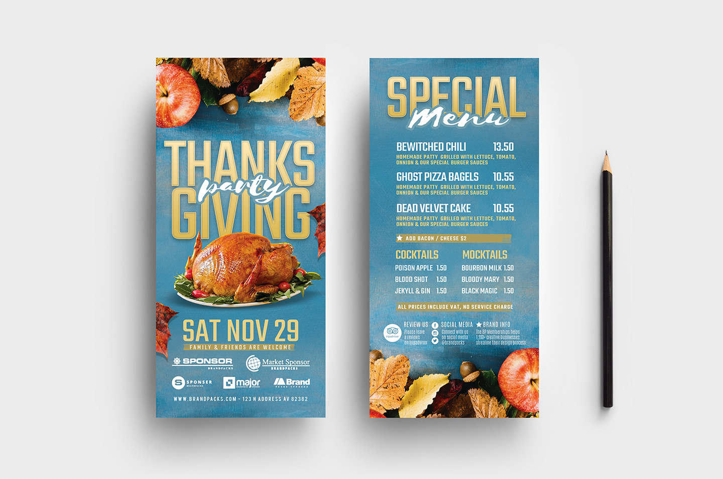 Thanksgiving Flyer Template example image 7