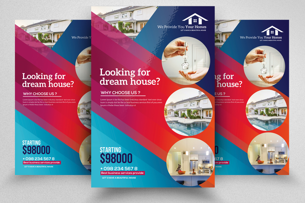 4 Real Estate Flyers Bundle example image 5