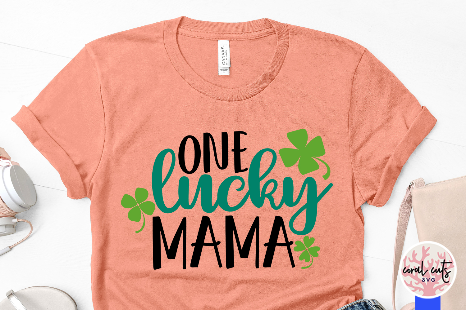 One Lucky Mama - St. Patrick's Day SVG EPS DXF PNG example image 3
