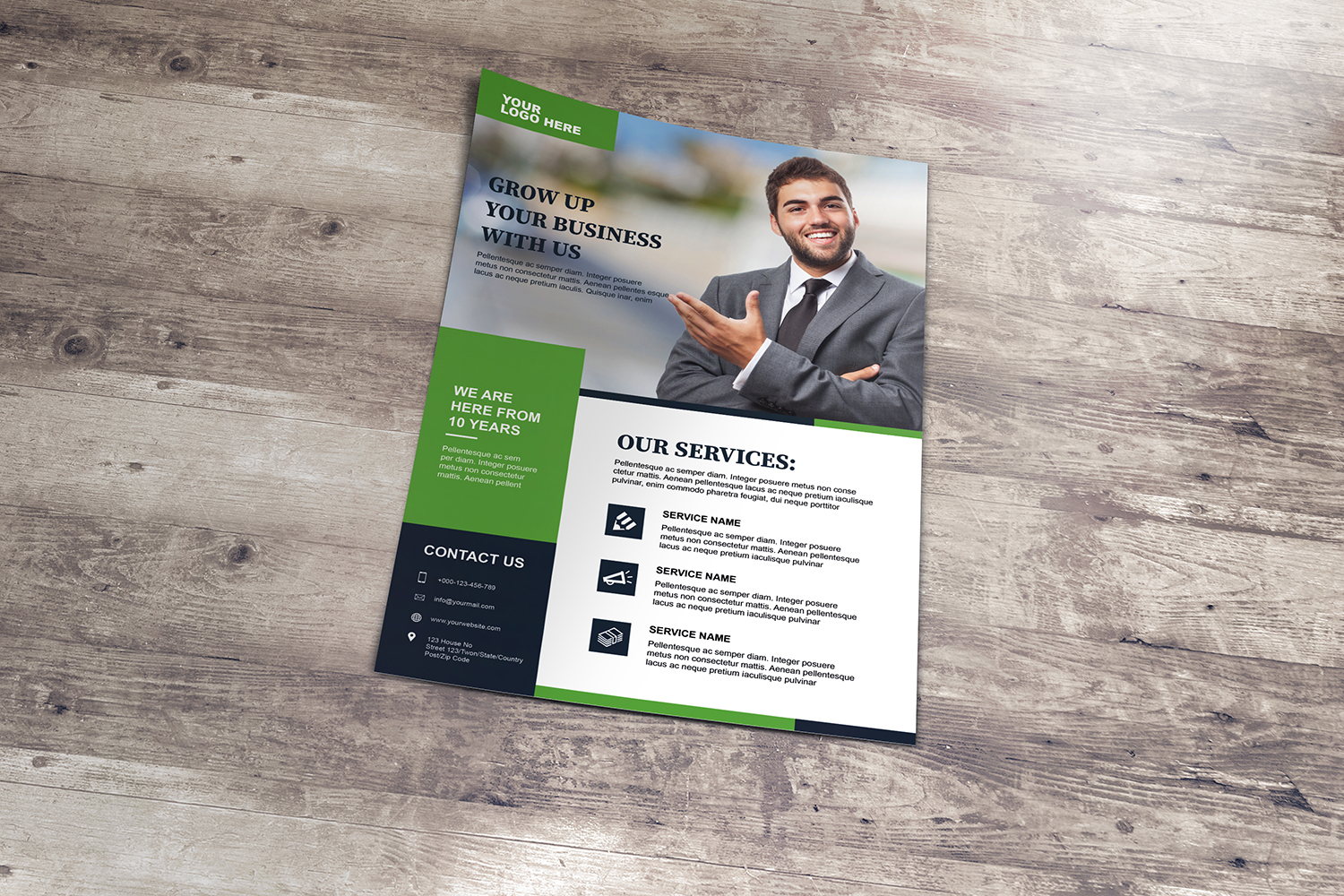 Corporate Flyer Template example image 4