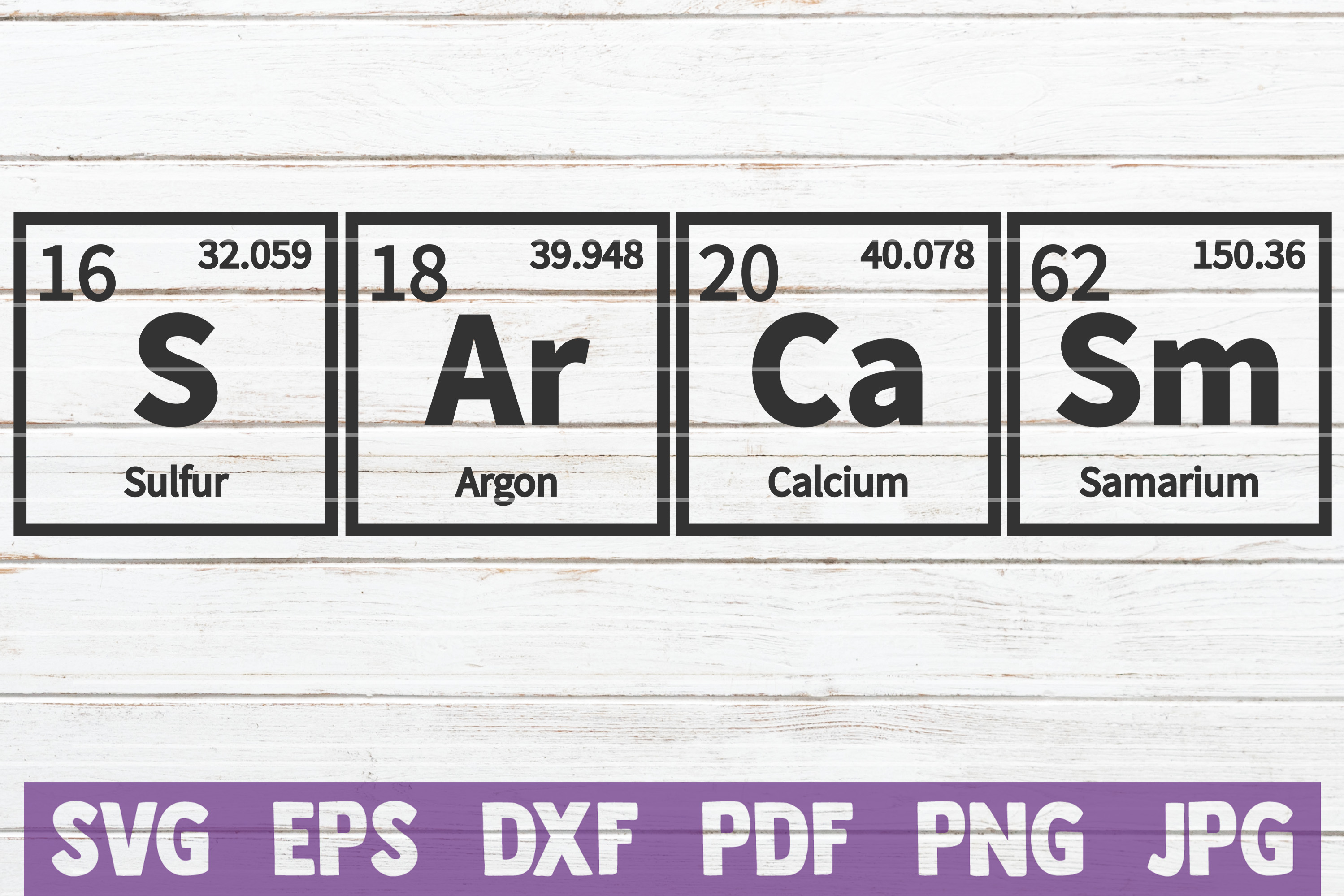 Sarcasm Periodic Table SVG Cut File | commercial use example image 1