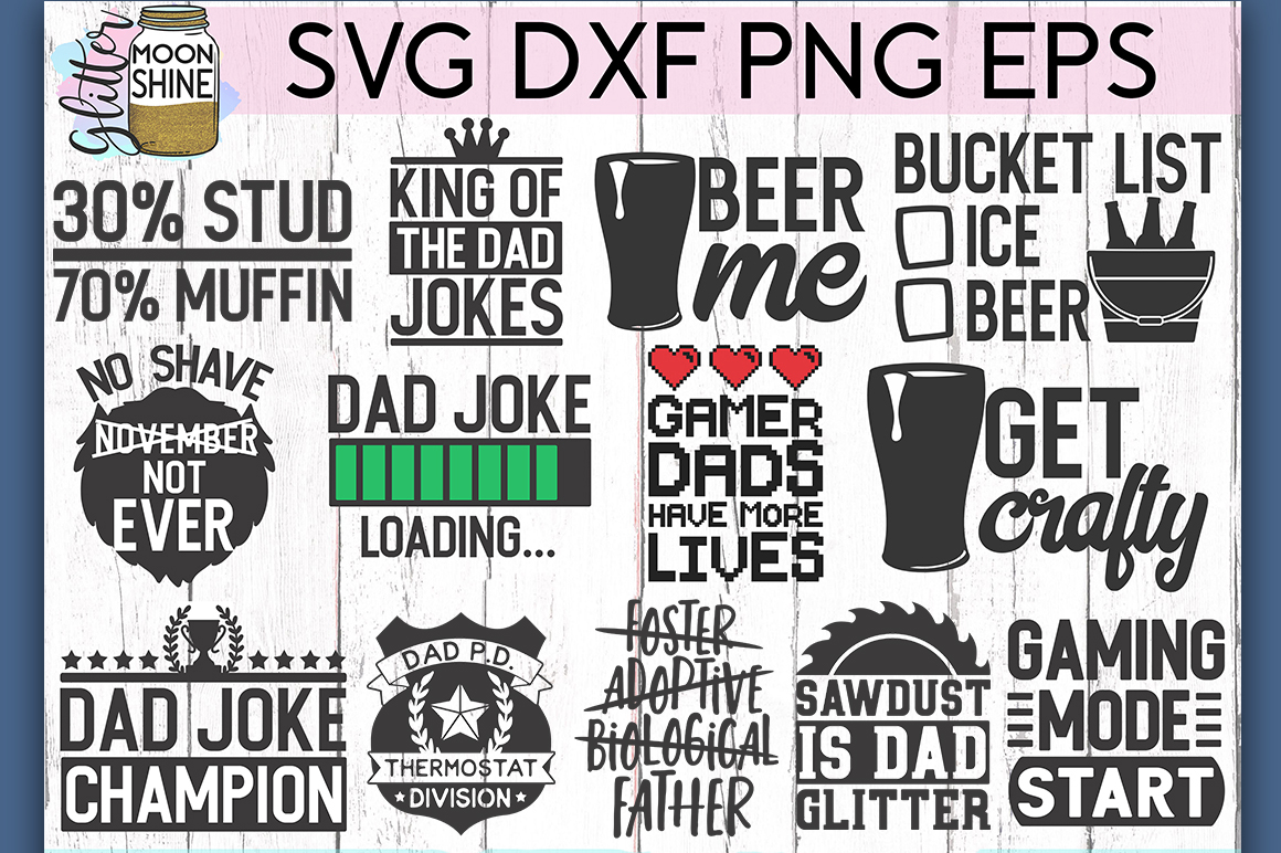 Dad Life Bundle Of 27 SVG DXF PNG EPS Cutting Files example image 3