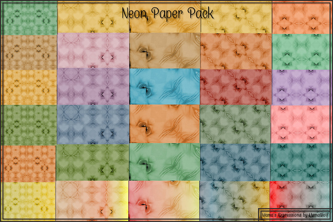 Neon Paper Pack example image 1