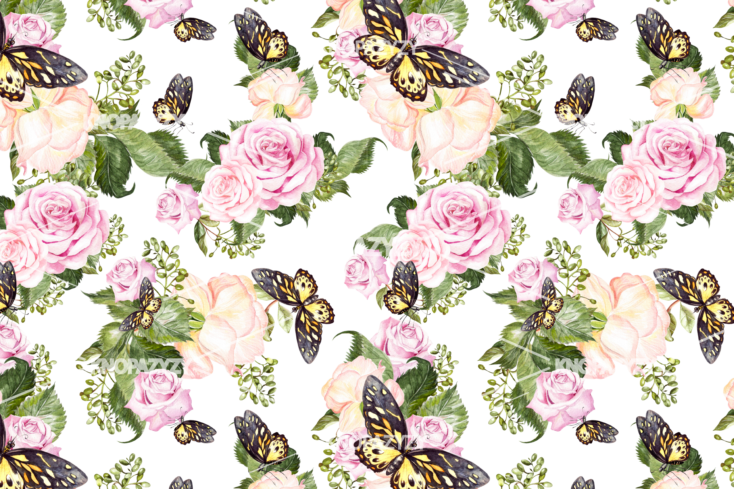 14 Hand drawn watercolor patterns example image 6