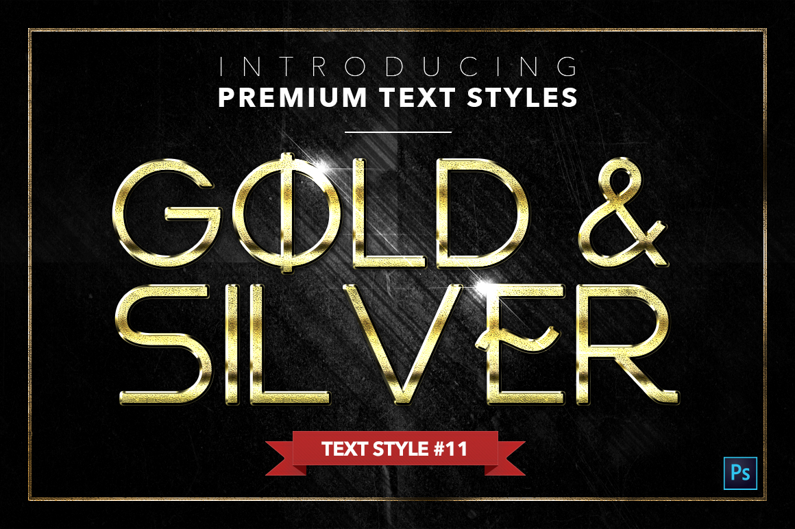 Gold & Silver #4 - 20 Text Styles example image 2