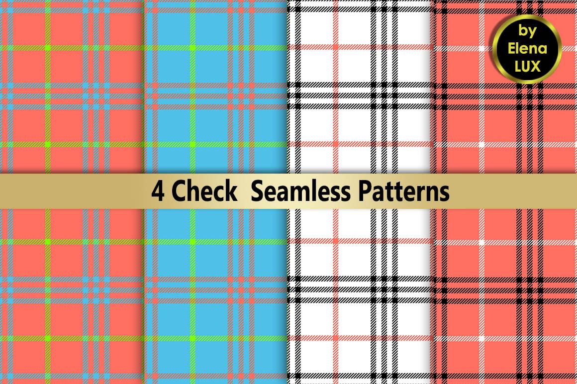 Check Seamless Pattern Set example image 1