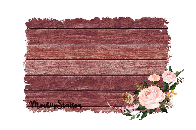Sublimation Wood Background PNG Bundle, Frame Clip Art example image 6