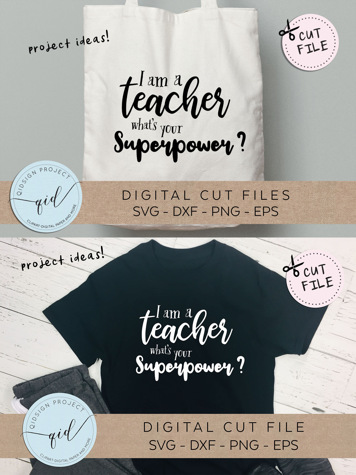 I am a teacher what's your superpower SVG DXF PNG EPS example image 3