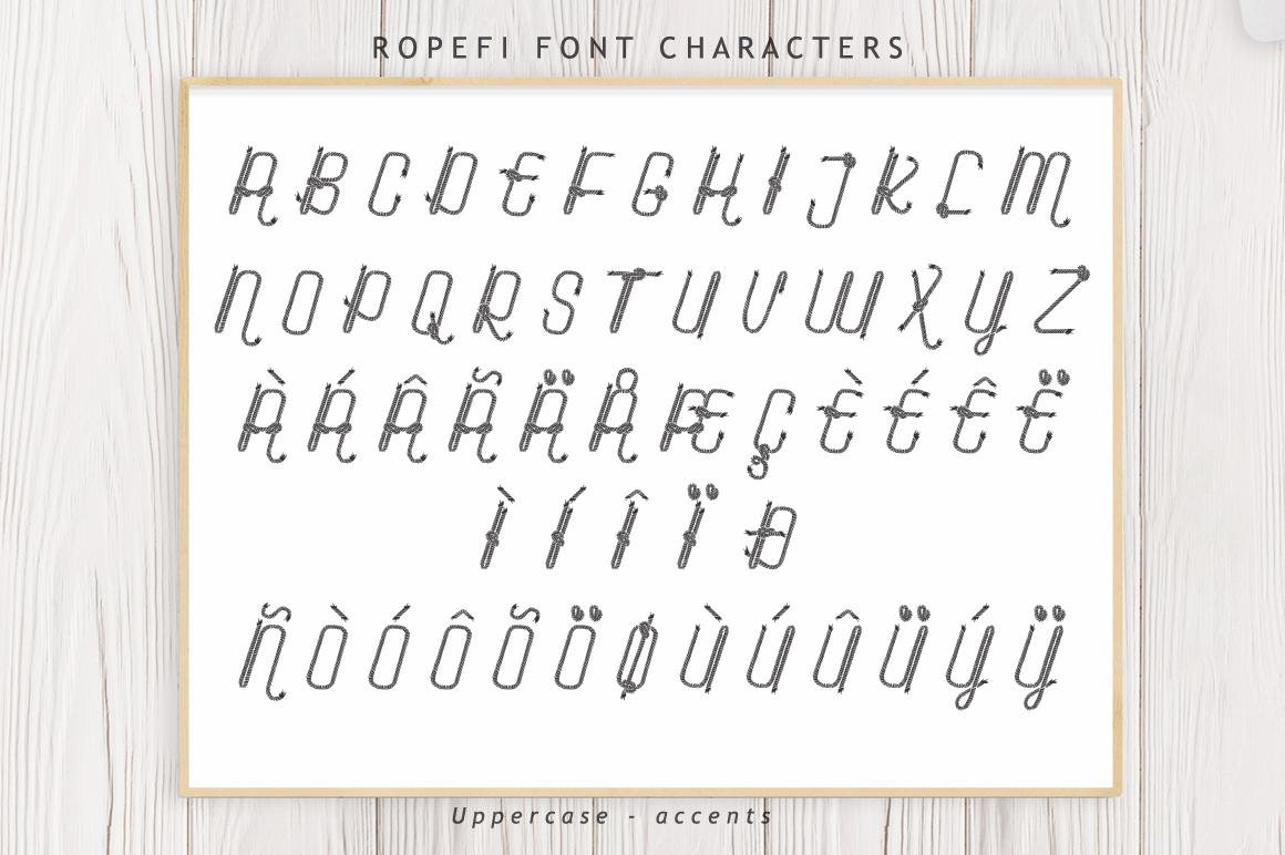 Ropefi Font example image 8