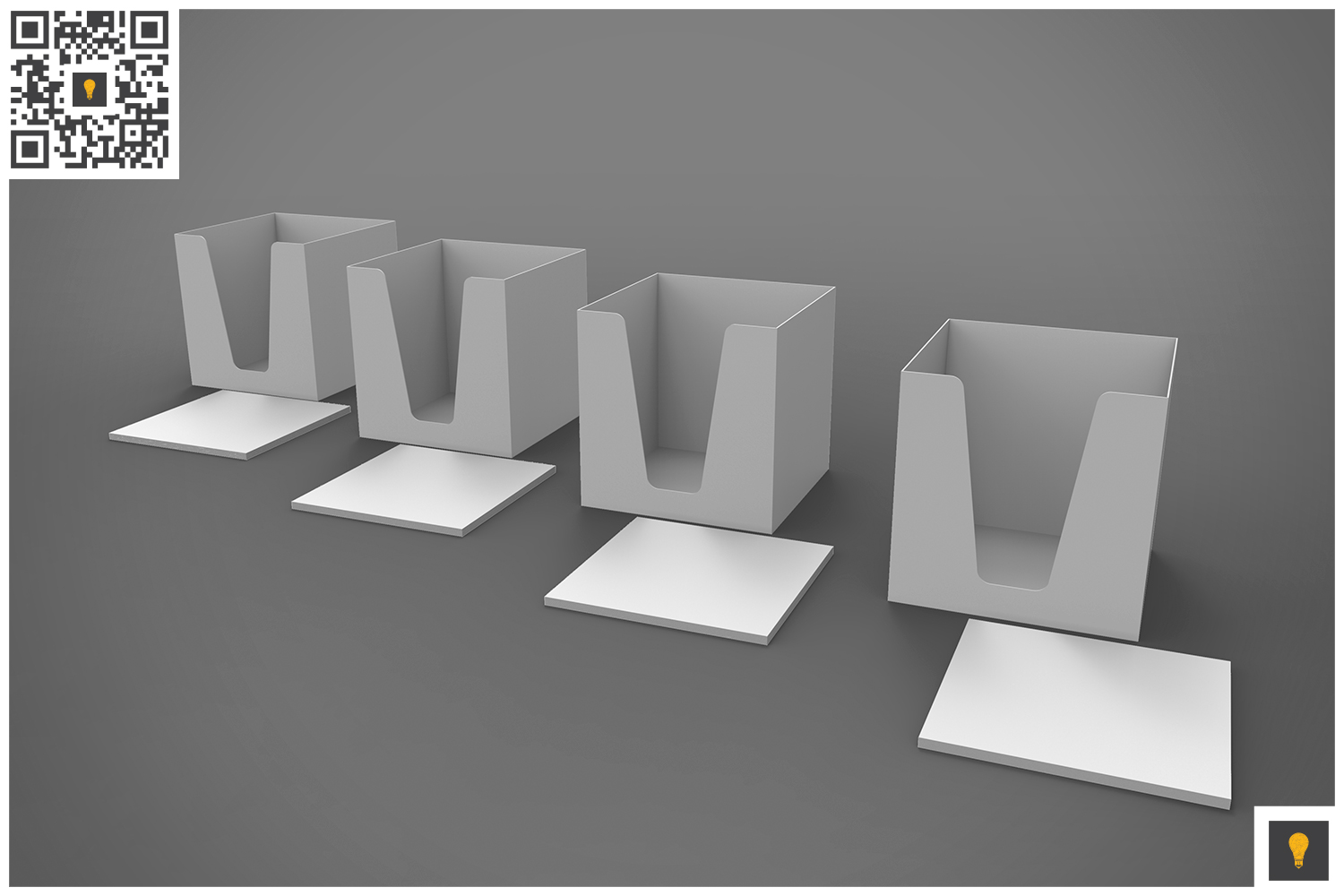 Notepad Holder & Notes 3D Render example image 4