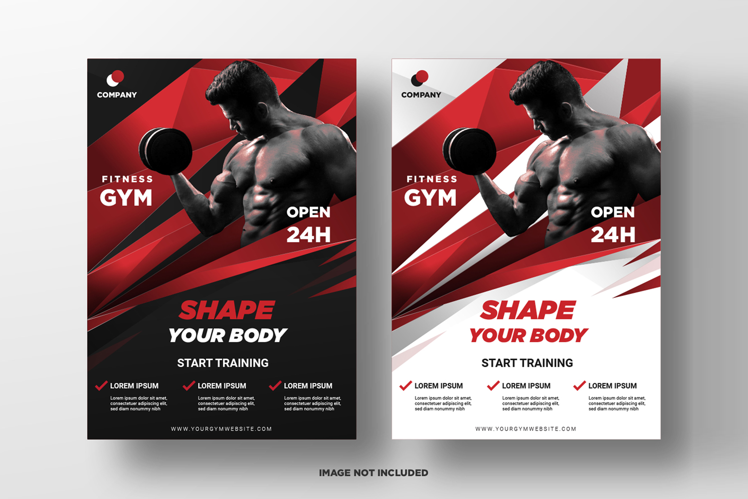 Fitness Flyer Template. Part 4 example image 1