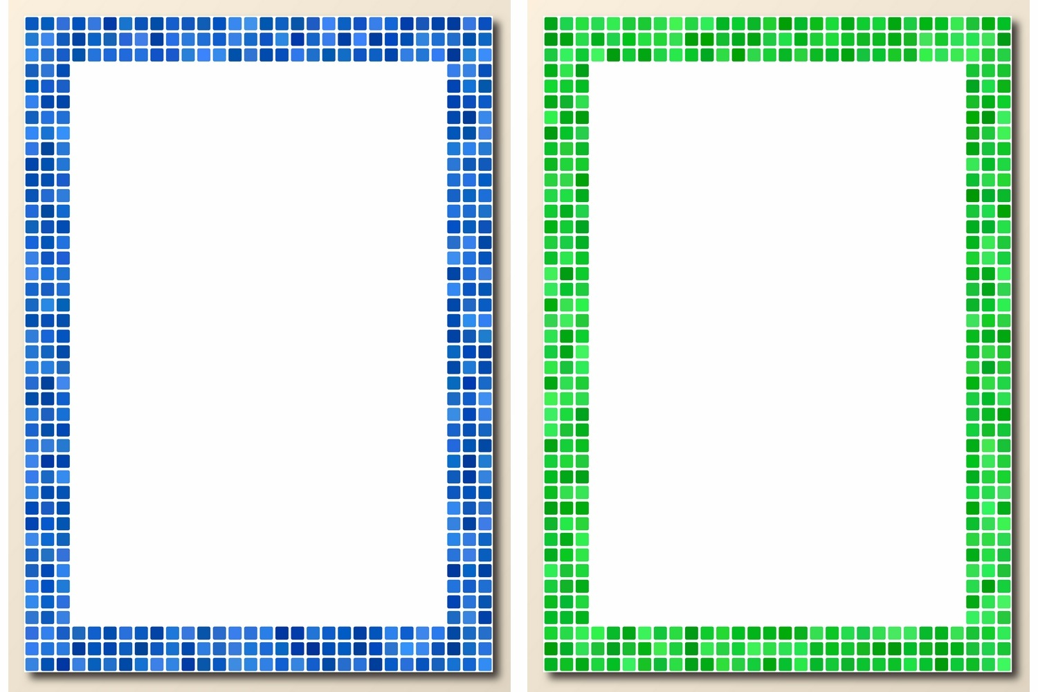 30 pixel mosaic page frames (AI, EPS, JPG 5000x5000) example image 2