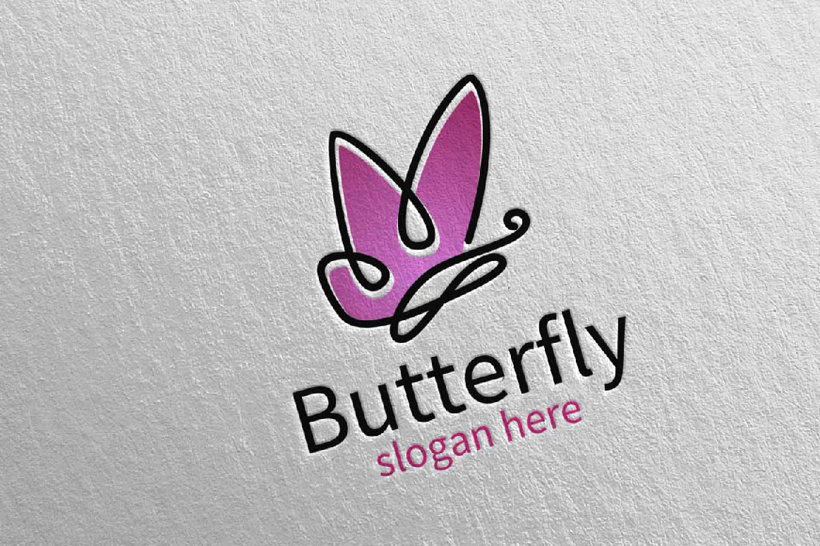 Butterfly Logo vol 15 example image 4