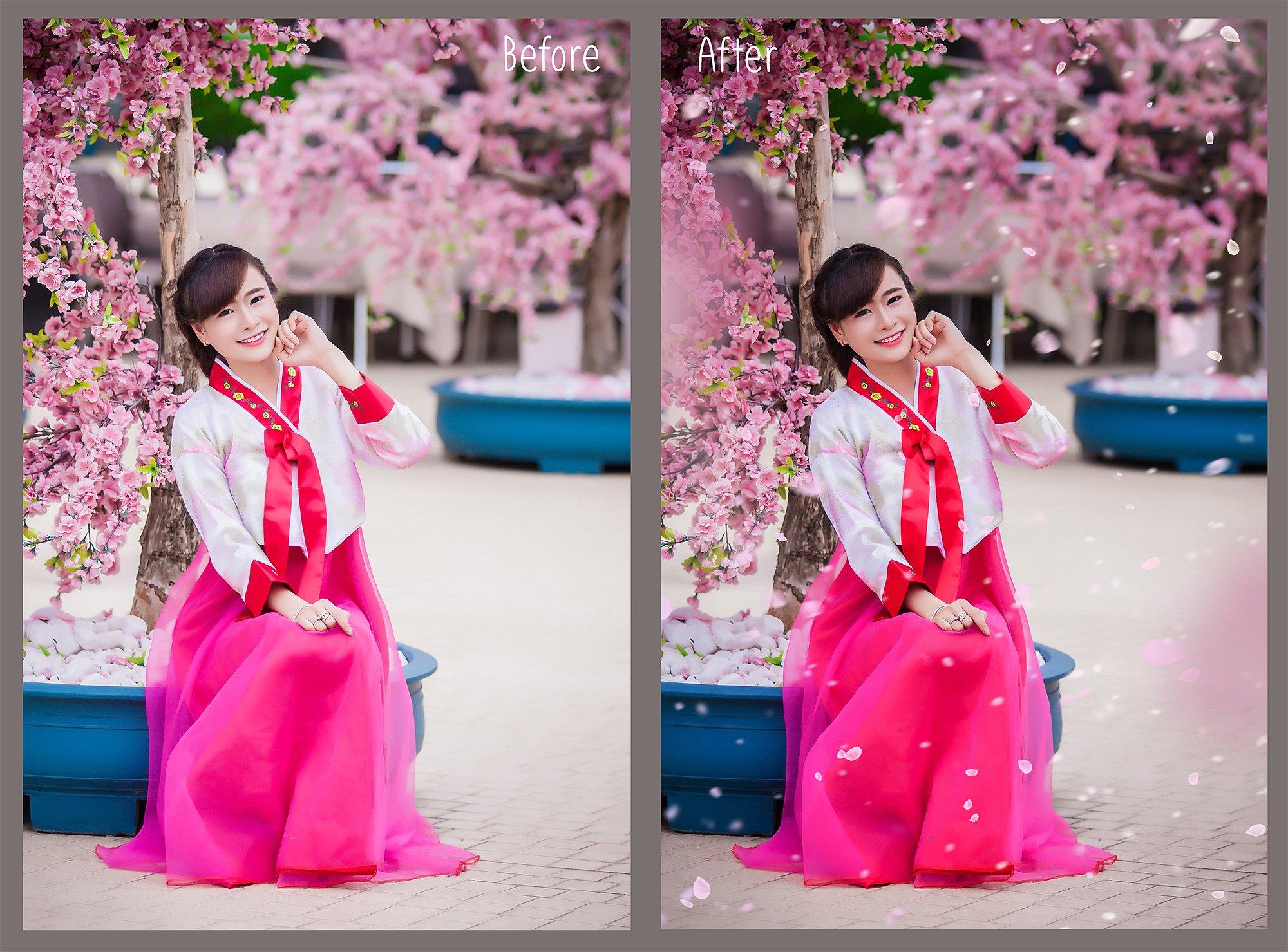 White petals photo overlays example image 4