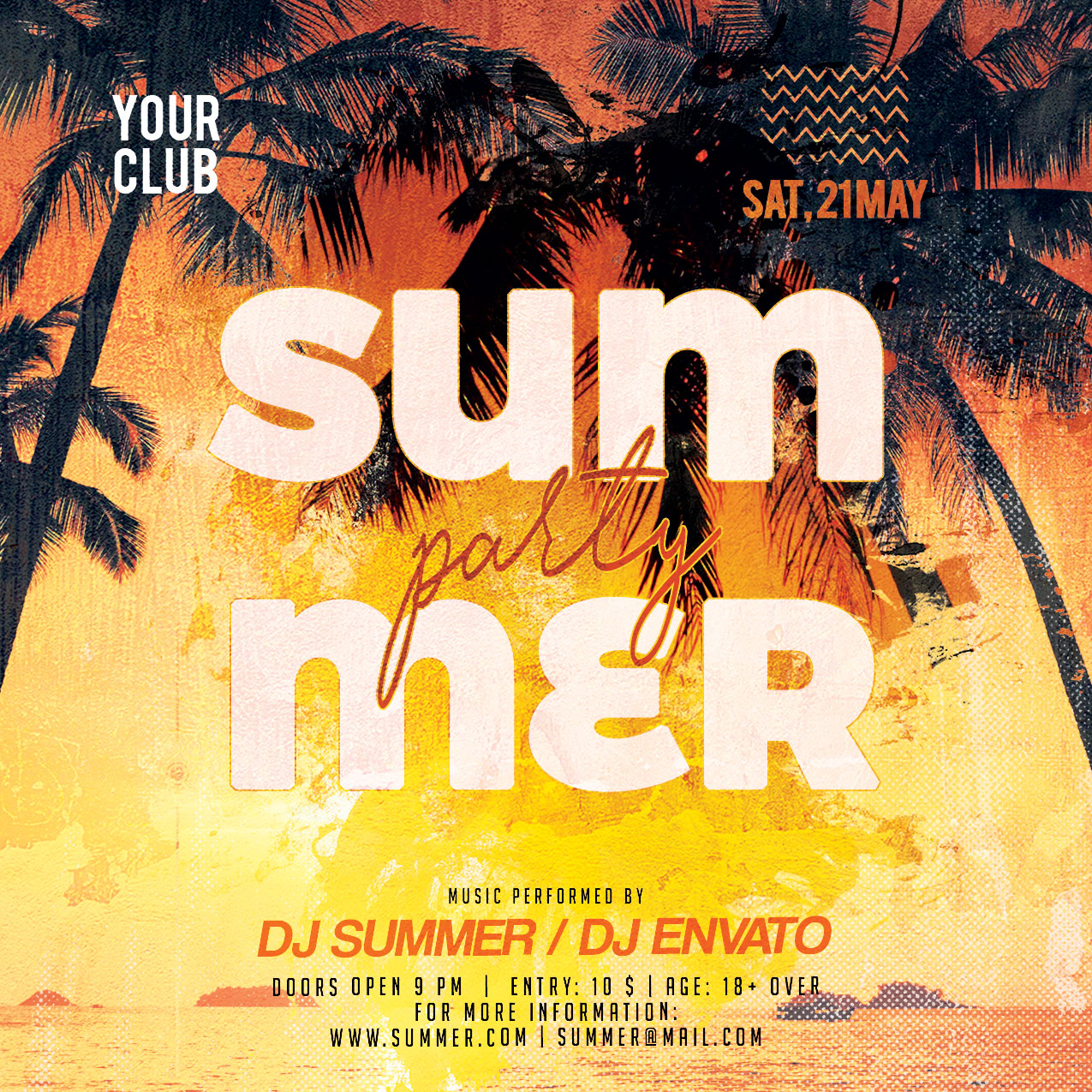 Summer Party Flyer example image 4
