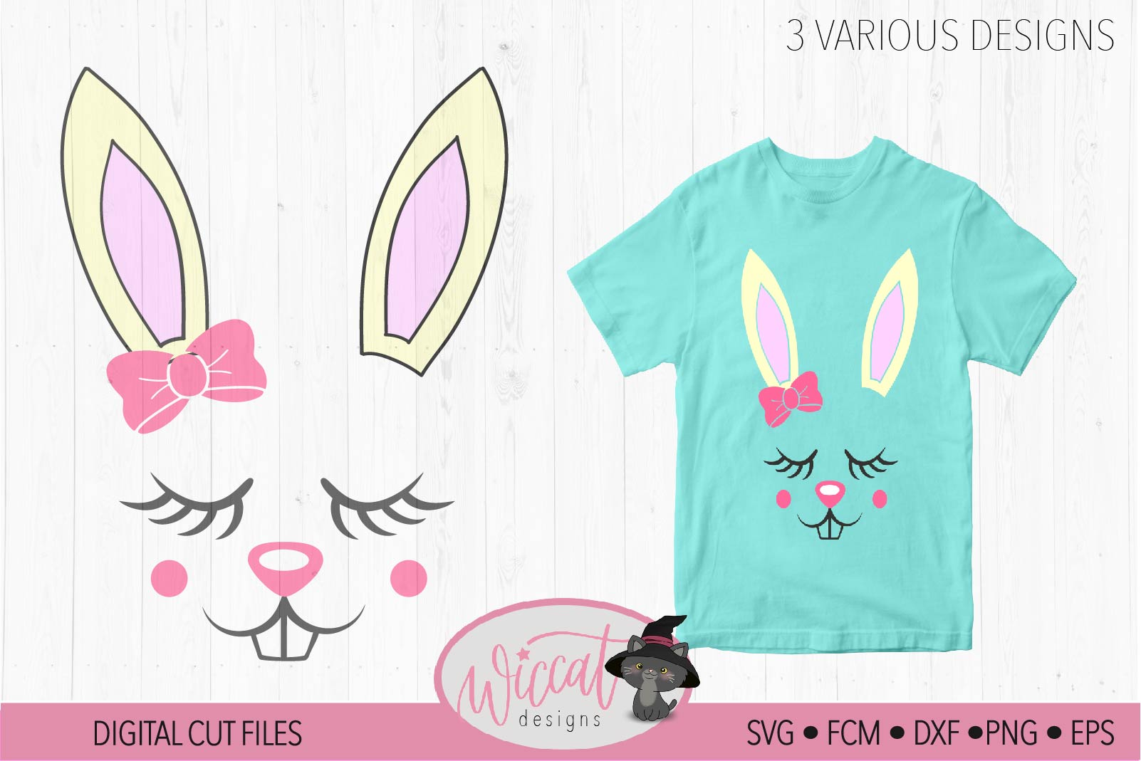 Easter bunny, Bunny svg, Bunny face svg, Girl bunny face svg example image 3