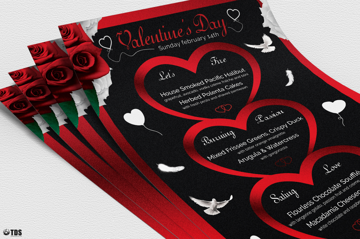 Valentines Day Menu Template V4 example image 5