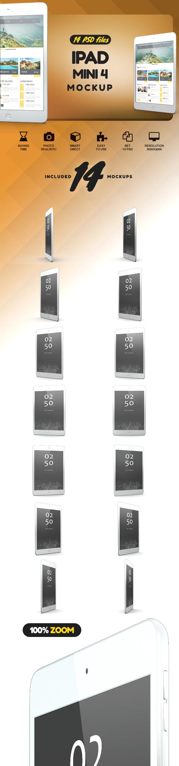 iPad Mini 4 Mock-up example image 2