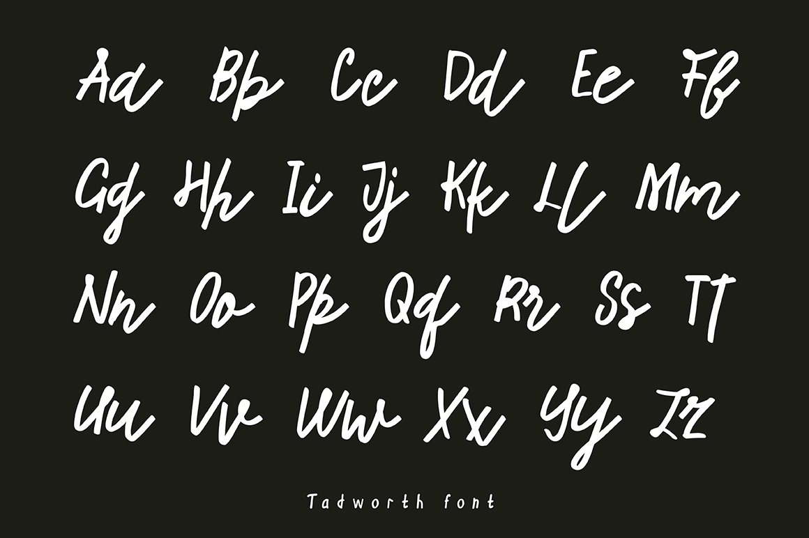 Tadworth Handwritten Script example image 2