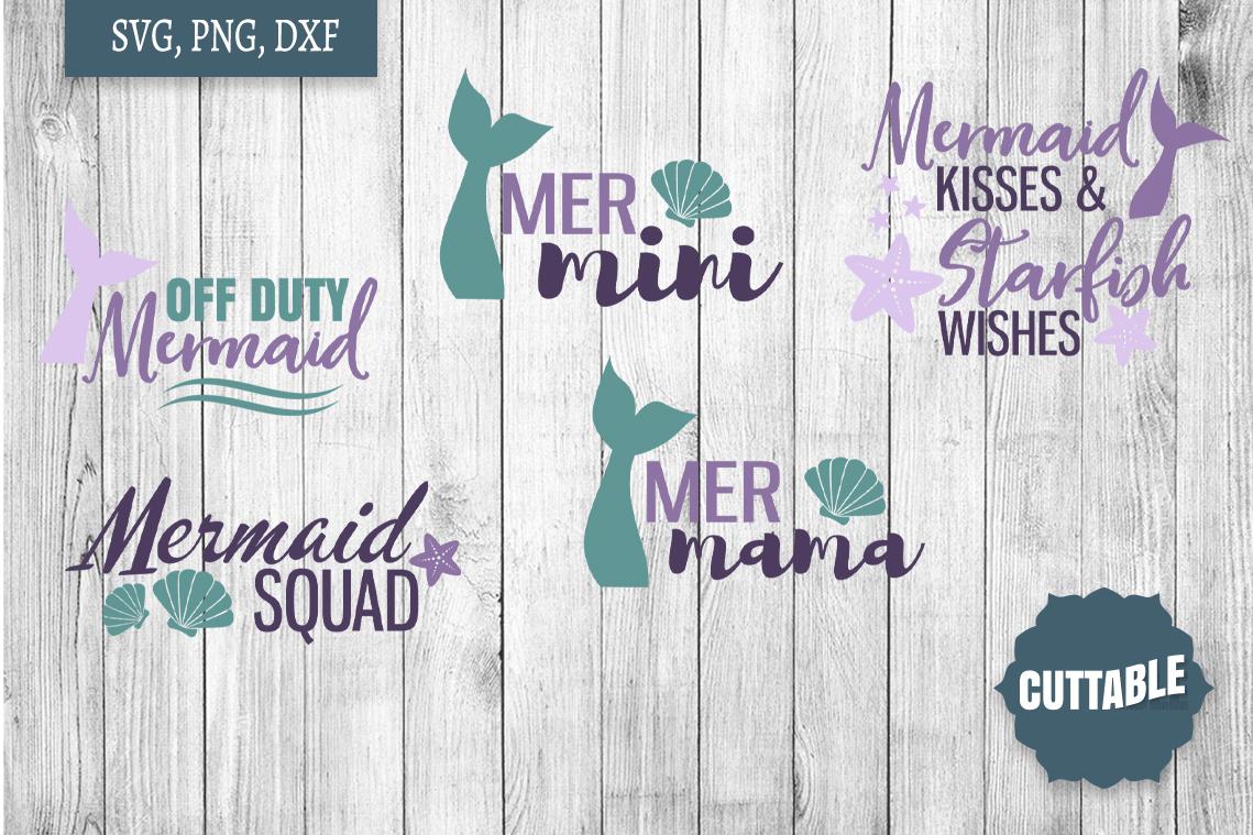 Mermaid SVG bundle, Mermaid cut file bundle, Ocean cut files example image 2
