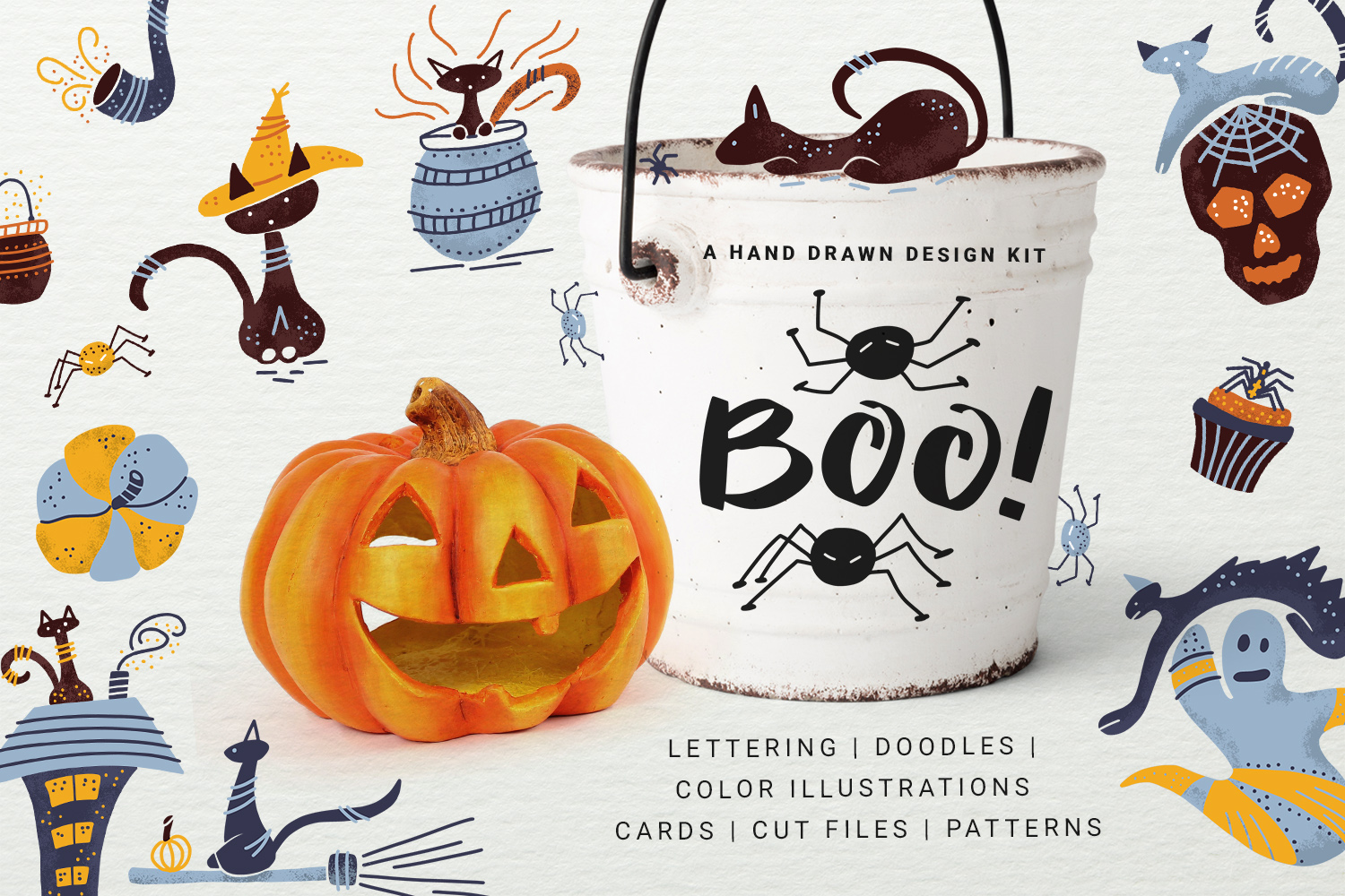 BOO! - Halloween design kit example image 1