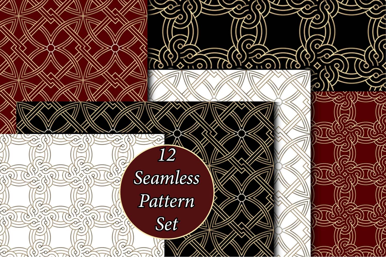 12 Seamless Pattern Set example image 1