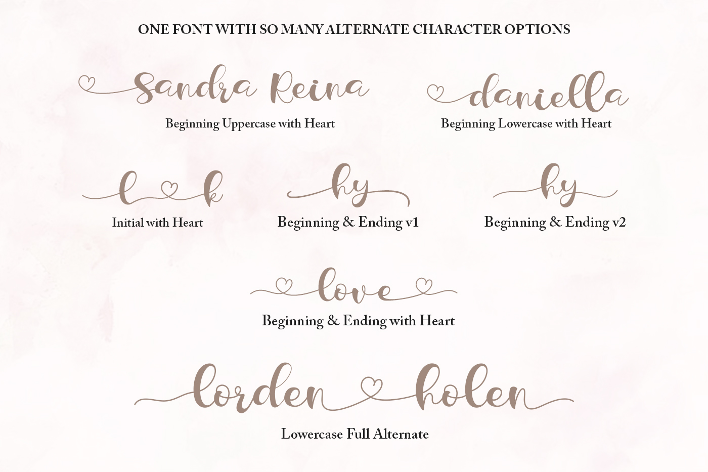 Lorden Holen Lovely Script example image 5