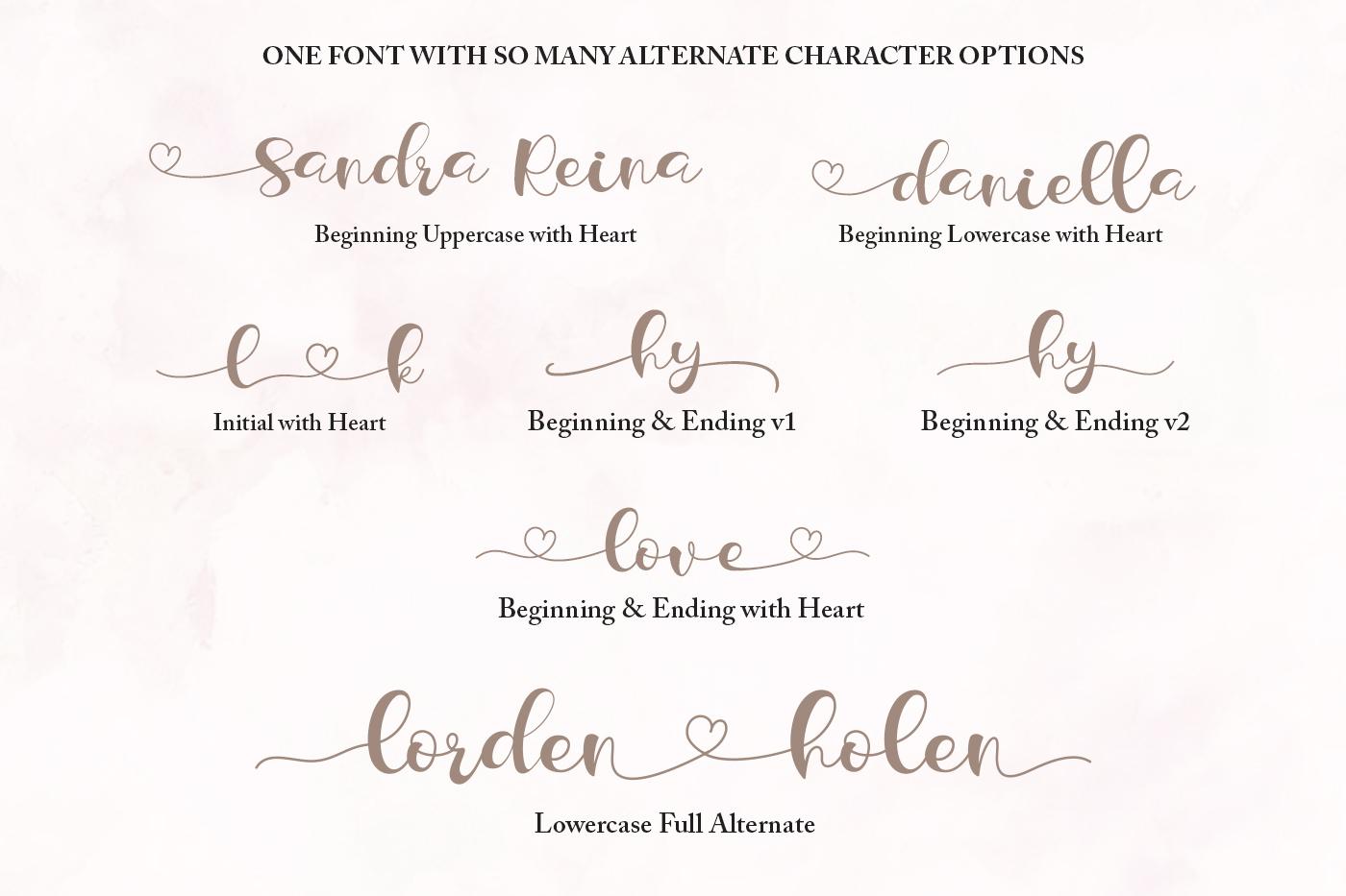 Lorden Holen Lovely Script example image 5