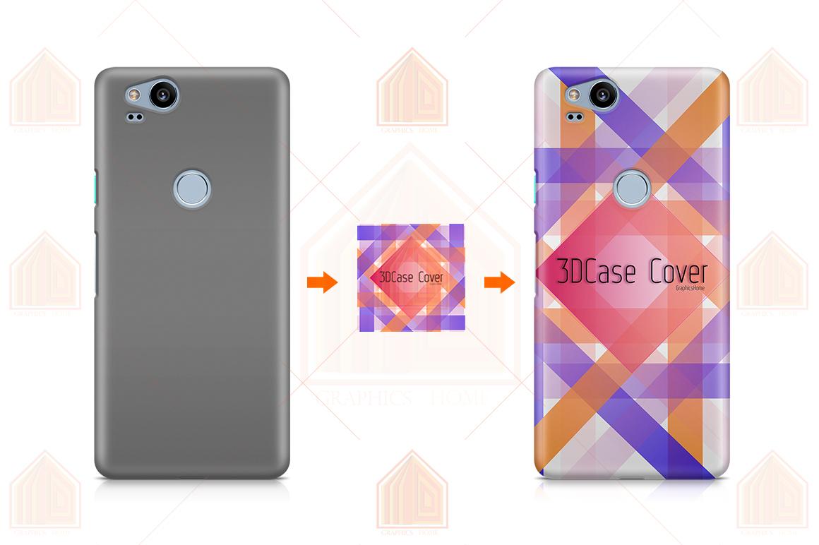 Google Pixel 2 3D Case Design Mockup Back View example image 2
