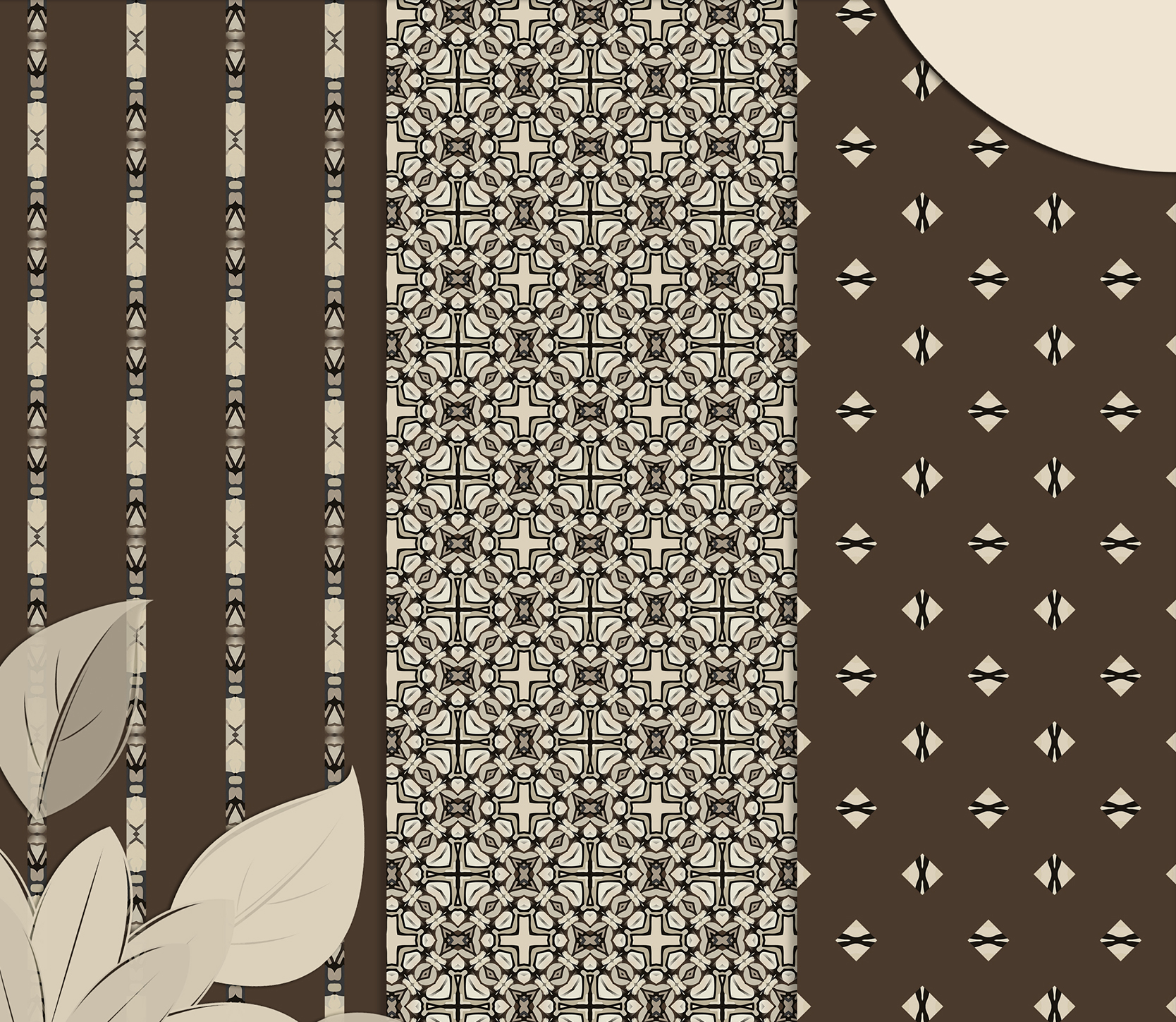 Brown-Gray abstract Digital Scrapbook Paper example image 4