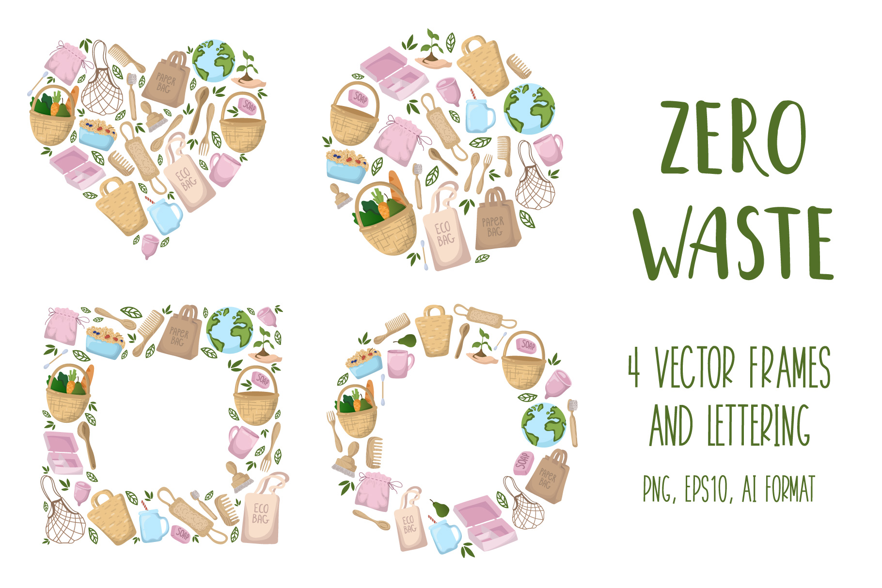 Zero Waste - Vector Collection example image 3