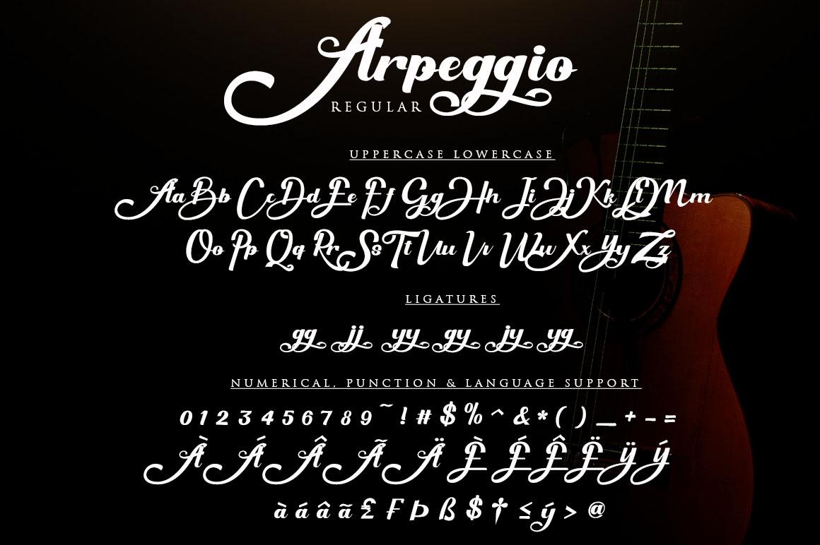 Arpeggio l Font Duo&6 Logo Templates example image 9