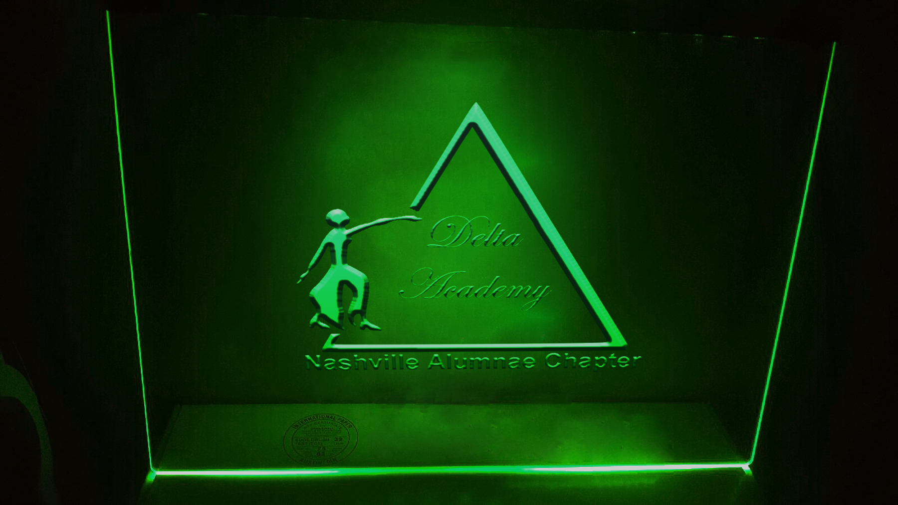 2d and 3d Logo mock ups on glass with neon glow  example image 4