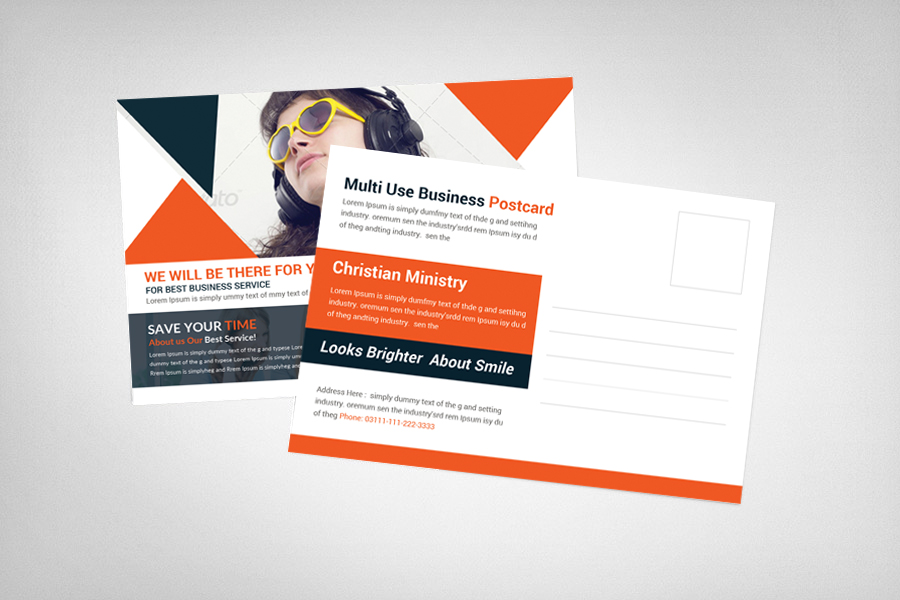 Multi Use Business Postcard Template example image 2