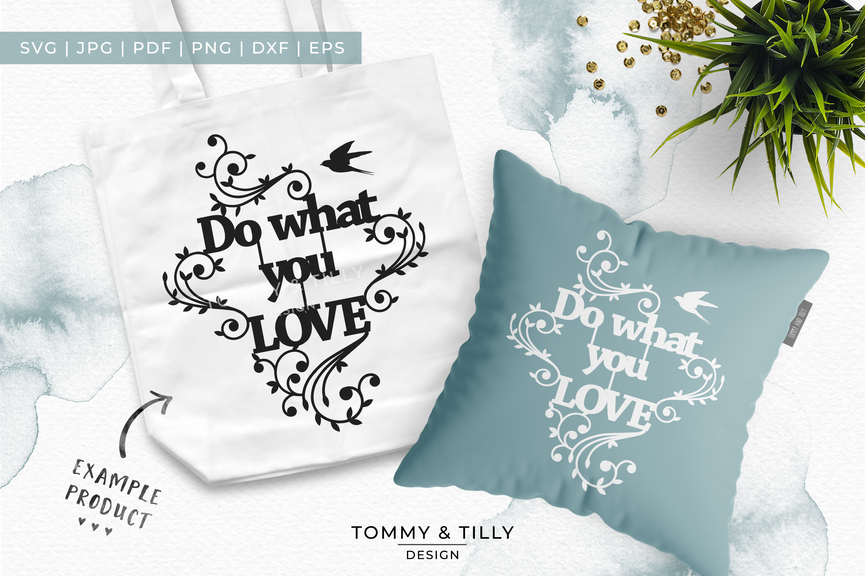 Do what you love - Papercut SVG EPS DXF PNG PDF example image 3