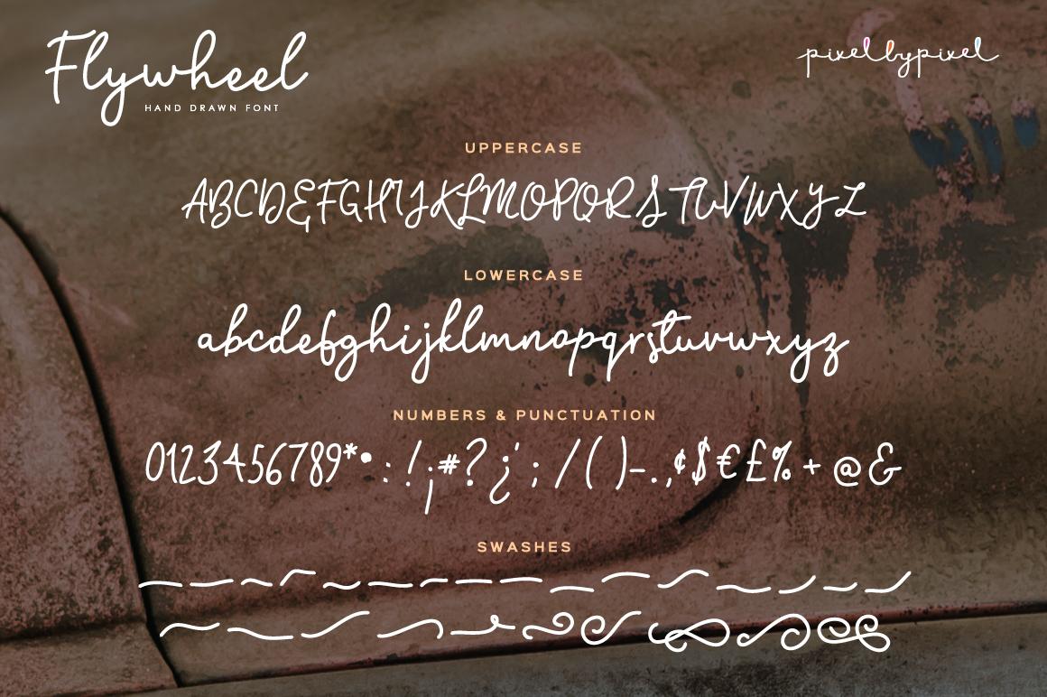 Flywheel Font  Swashes example image 3