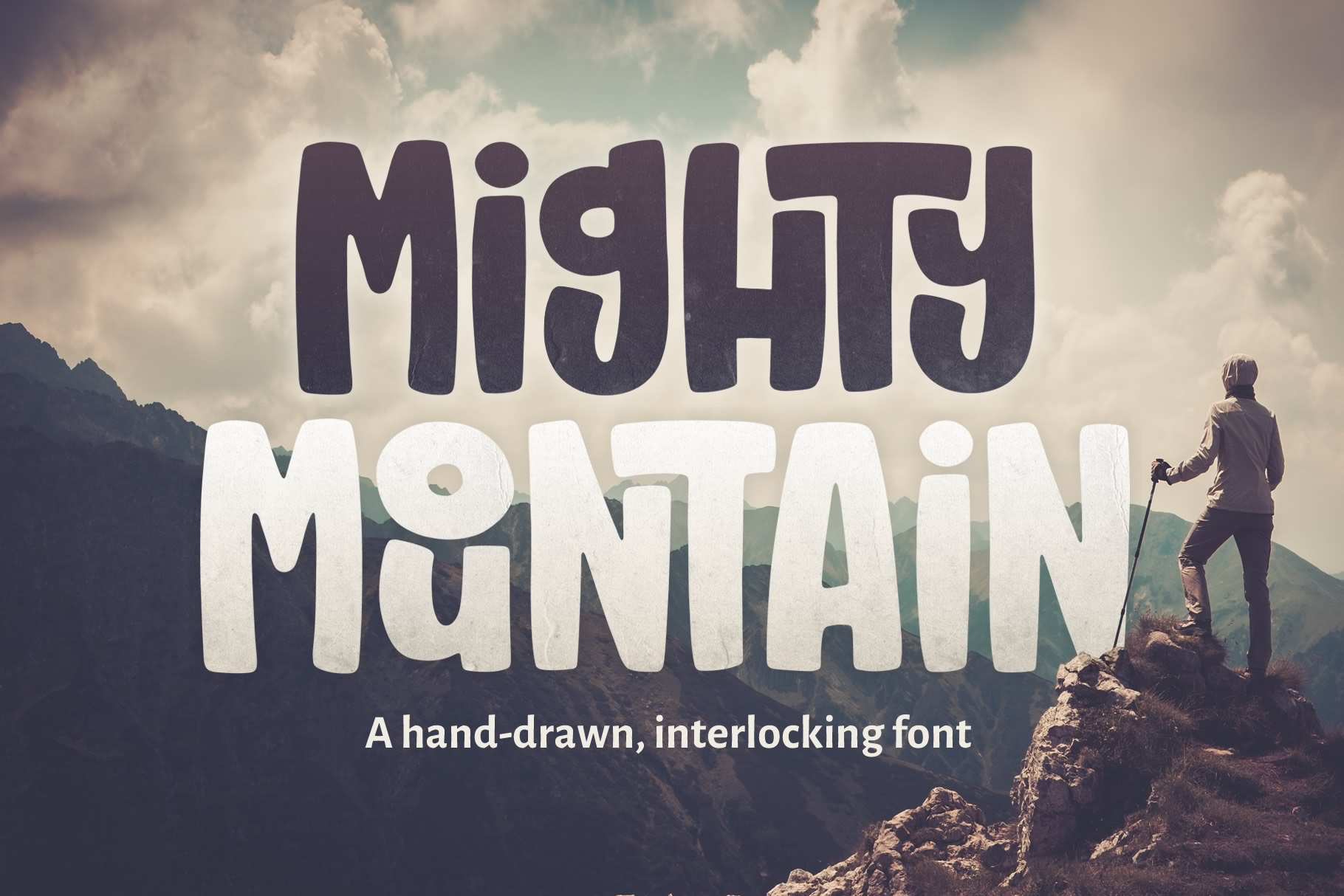 Mighty Mountain Font example image 1