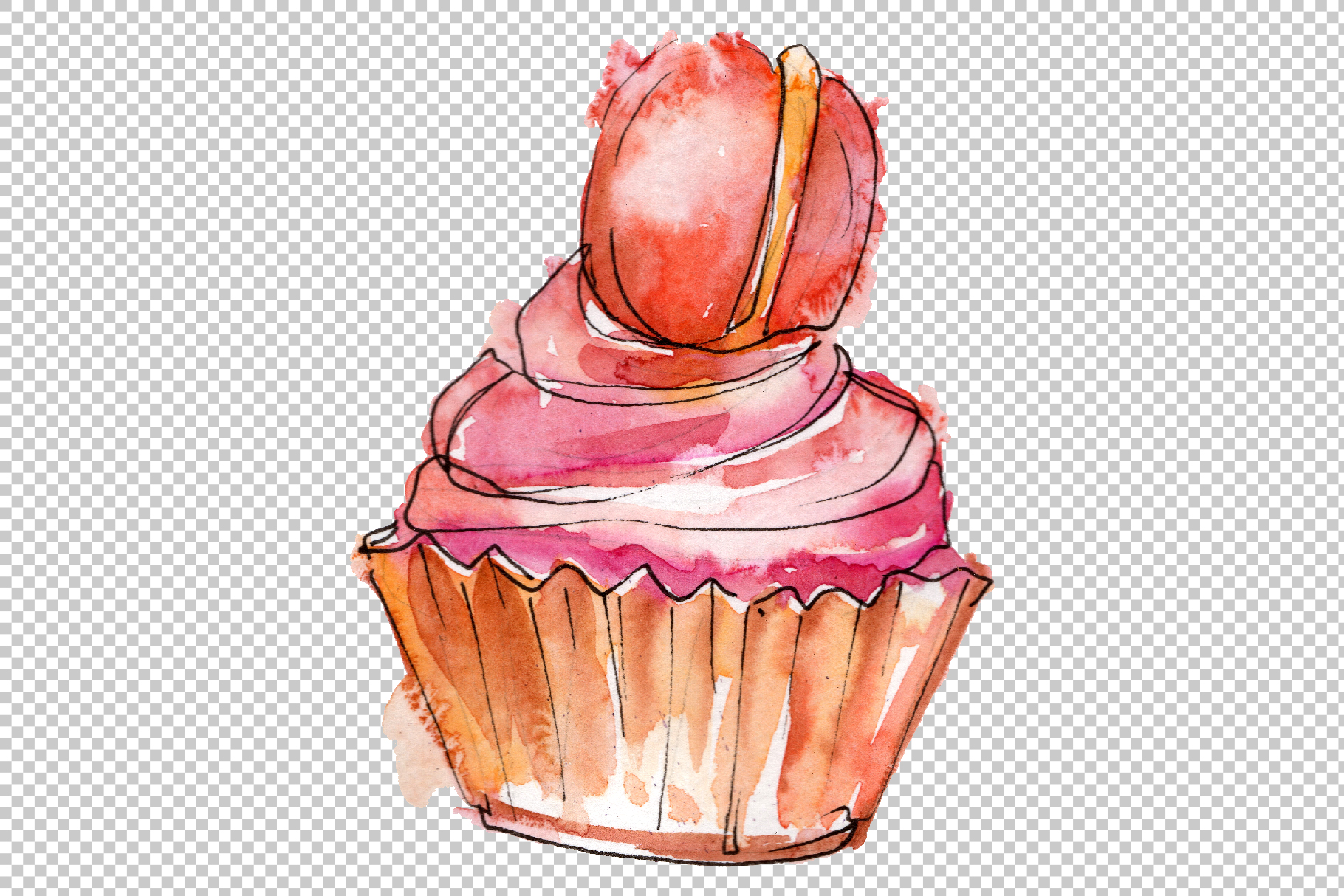 Dessert Friday Watercolor png example image 6