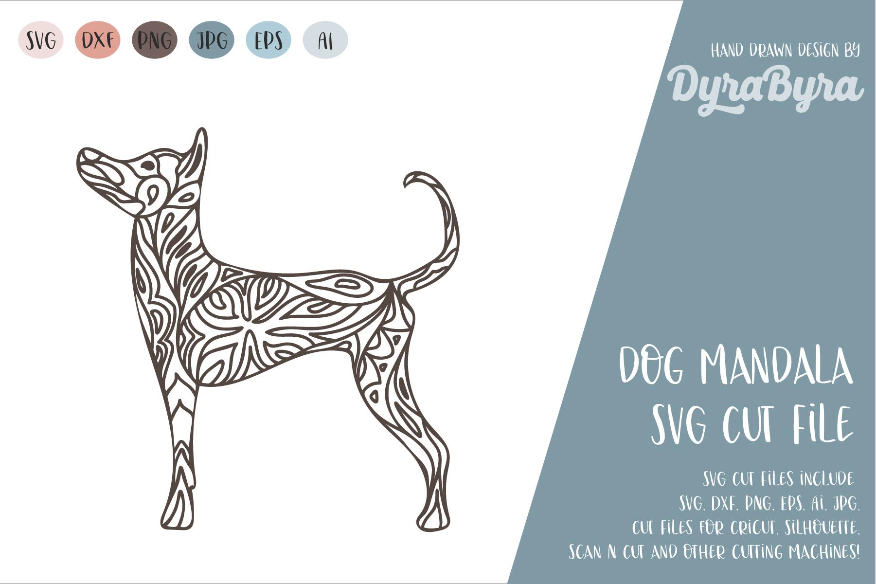 Dog Mandala SVG / Dog SVG / Zentangle SVG / Boho SVG example image 2