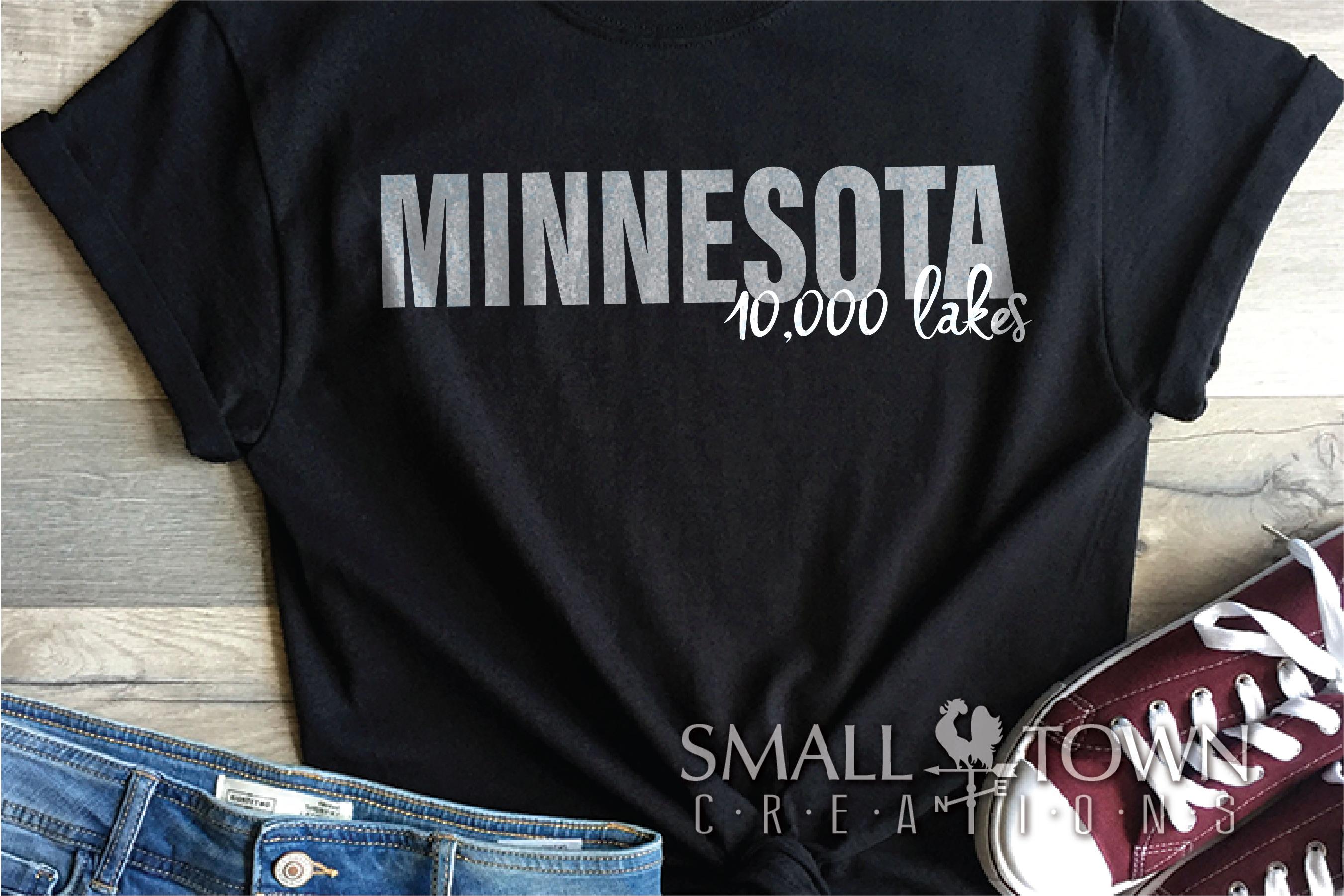 Minnesota, 10,000 Lakes - slogan, PRINT, CUT & DESIGN example image 4