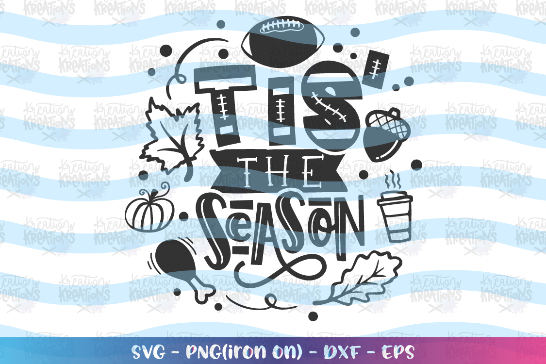 Fall SVG Tis' the Season svg Fall sayings elements Autumn example image 2