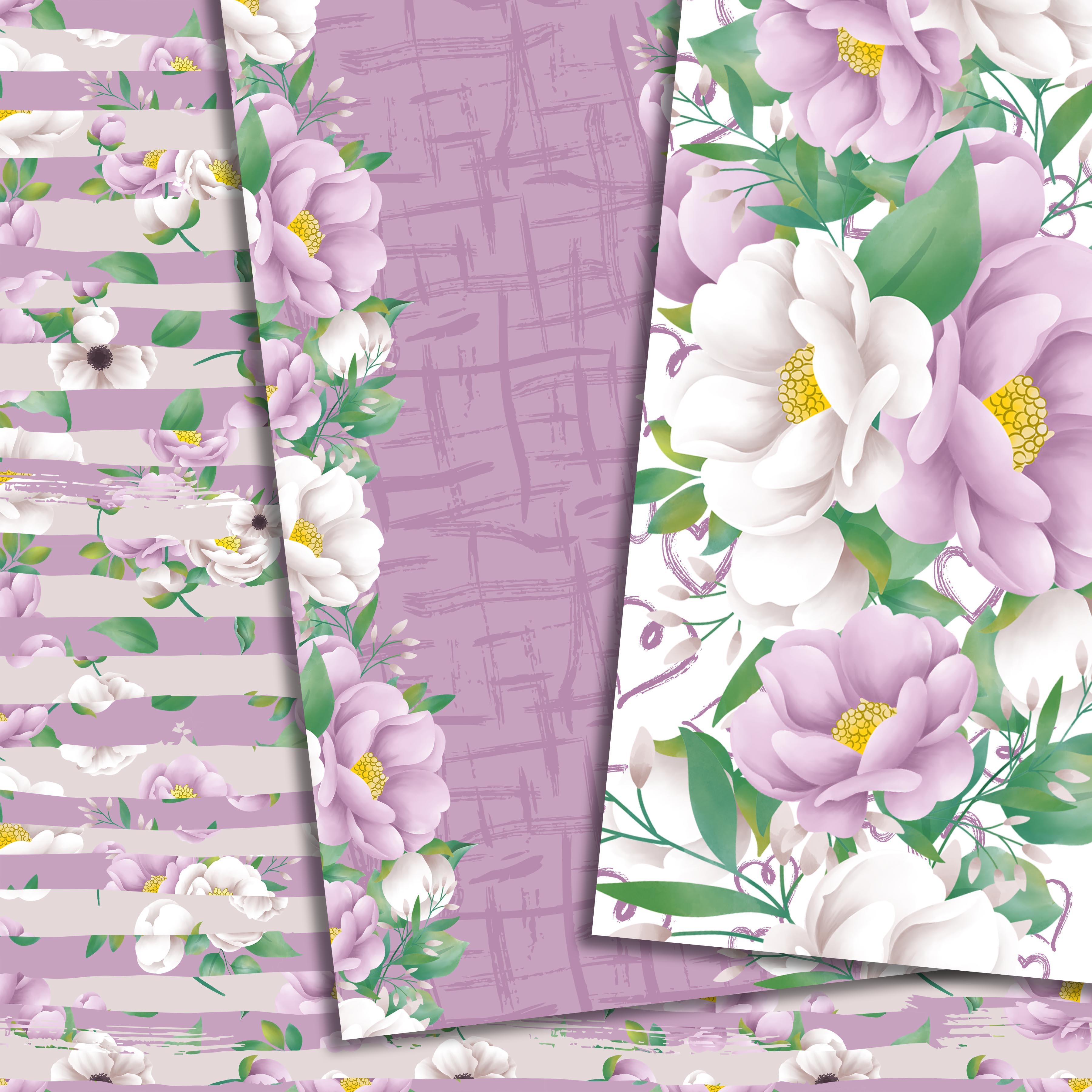 Purple flowers paper example image 6