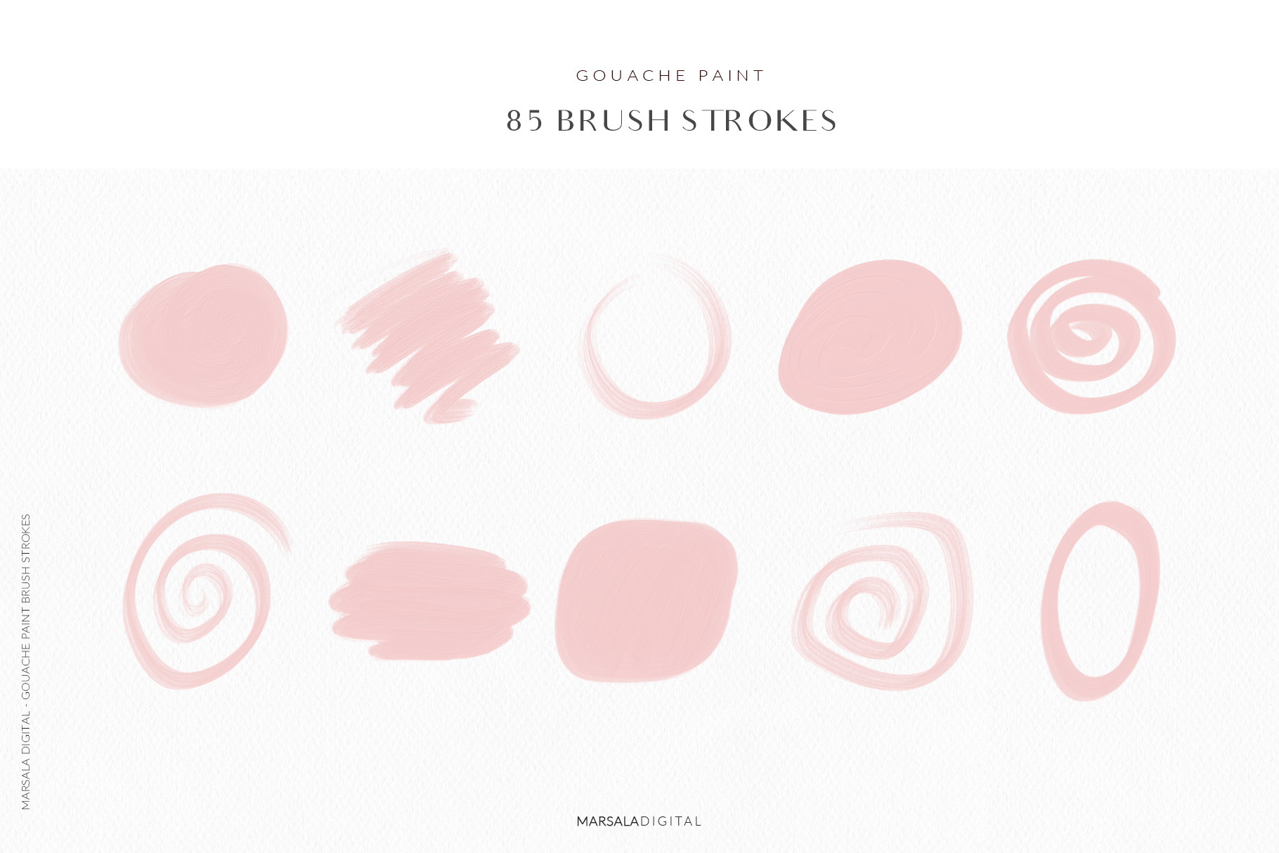 Blush Pink Brush Strokes Clipart example image 5