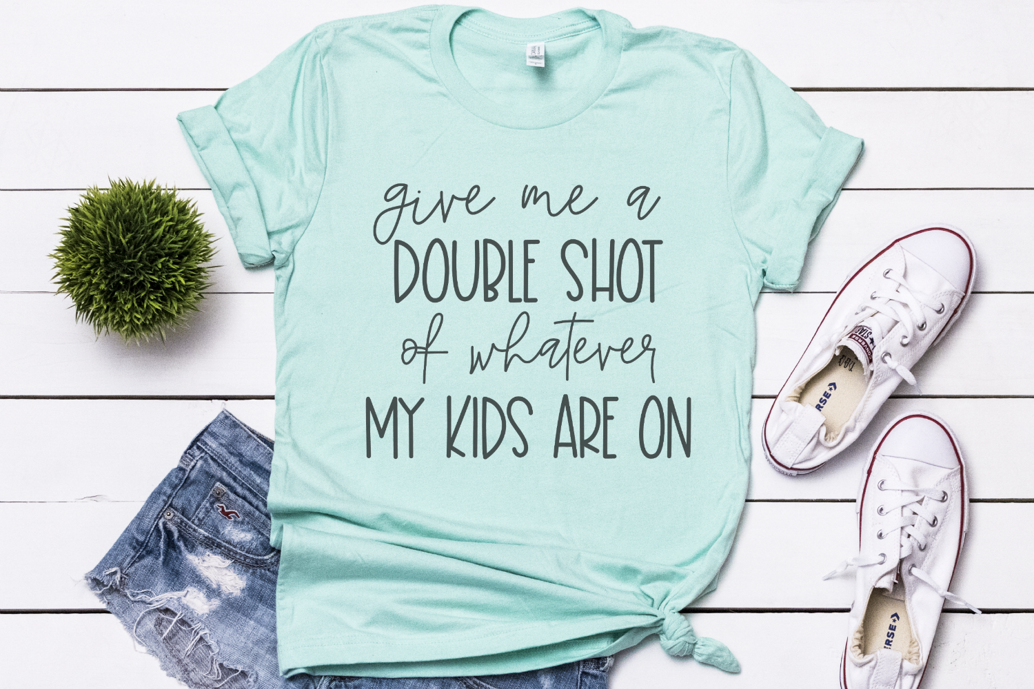 Mom Quote - Double Shot - Mom Life - Mother's Day SVG example image 2