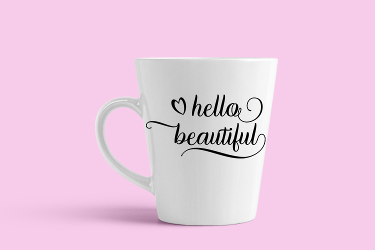 Hello Beautiful - SVG PNG EPS DXF example image 3