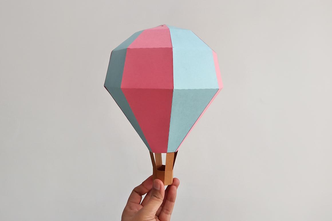 DIY Papercraft Hot air baloon decorations,cricut files,svg example image 4